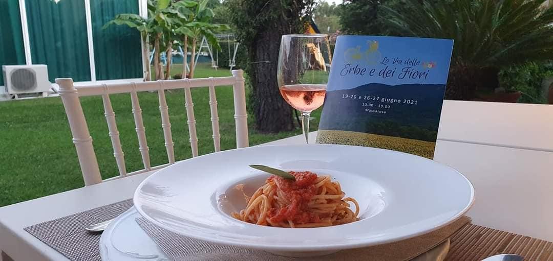 Spaghetti al ragù di anguilla del Ristorante Le Rotonde.