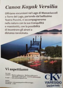 Avventure sul lago di Massaciuccoli Canoa Kayak Versilia